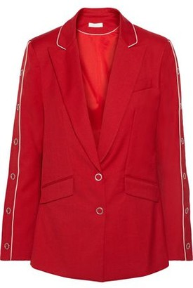 Jonathan Simkhai Snap-detailed Wool-blend Twill Blazer