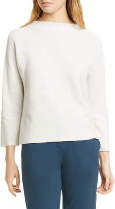 Eileen Fisher Funnel Neck Silk & Organic Cotton Sweater
