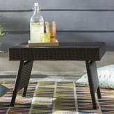 Wrought Studio Ellington Circle Outdoor Foldable Wicker Side Table