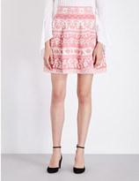 Alexander McQueen Jacquard stretch-knit mini skirt