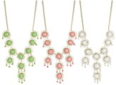 Z Designs Bead Flower Bib Necklace