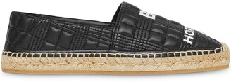 Burberry Horseferry-Print Quilted Espadrilles