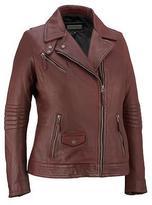 Black Rivet Womens Plus Size Moto Leather Scuba