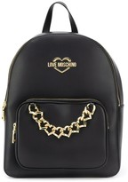 Love Moschino logo chain-link backpack