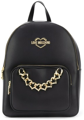 Love Moschino Logo Chain-Link Backpack