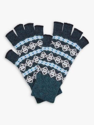 Brora Fair Isle Cashmere Fingerless Gloves