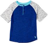 U.S. Polo Assn. Marina Blue Injection Raglan Tee - Toddler