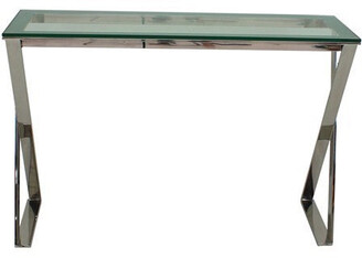clear Lynne Console Table Glass