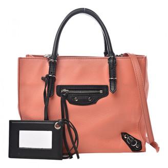 Balenciaga Navy Leather Handbags