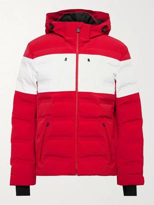 Aztech Mountain Nuke Suit Hooded Striped Down Ski Jacket