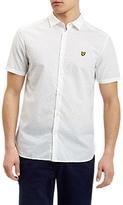 Lyle & Scott Square Dot Pattern Short Sleeve Shirt, White