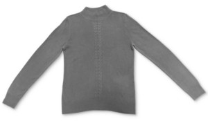 Karen Scott Plus Size Cable-Front Mockneck Sweater, Created for Macy's