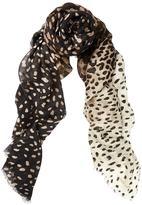 Meli-Melo Cashmere Scarf Leopard Print
