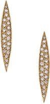 Maya Brenner Pave Diamond Horizon Stud Earrings
