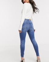 Stradivarius high waist skinny jean in medium wash