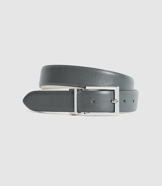 Reiss RICKY REVERSIBLE LEATHER BELT Taupe/grey