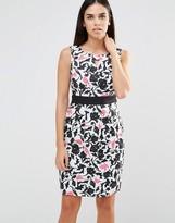 Yumi Tropical Bird Camo Pencil Dress