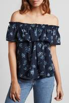 Current/Elliott Current Elliott Ruffle Top Tossed Floral