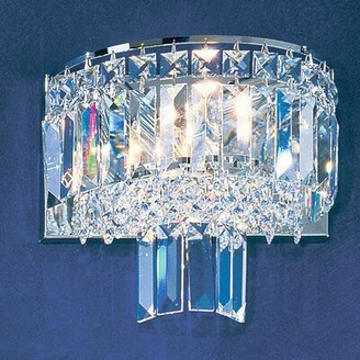 Mercer41 Gaskin 1-Light Flush Mount Finish: Chrome, Crystal Type: Crystalique Plus