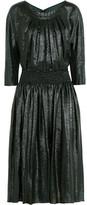 Nina Ricci Pleated Lamé Dress
