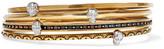Alexander McQueen Set Of Four Gold-tone Embellished Bracelets