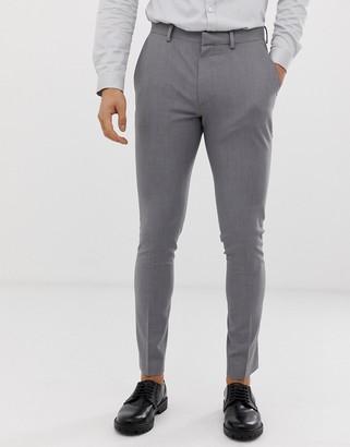 ASOS DESIGN super skinny smart pants in grey