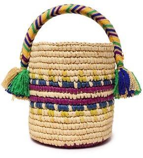 Yosuzi Rym Straw Bucket Bag