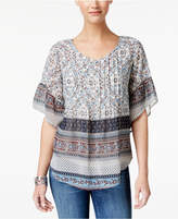 Style&Co. Style & Co Petite Printed Pleated Blouse, Created for Macy's