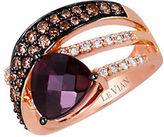 LeVian Kt. Strawberry Gold Rhodolite Diamond Ring