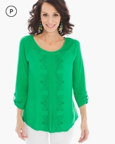 Chico's Emmie Embroidered Top