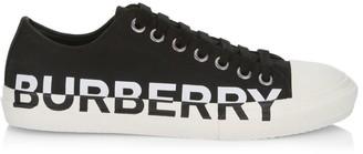 Burberry Larkhall Cap Toe Logo Low-Top Sneakers