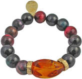 Devon Leigh Tiger's Eye & Amber Stretch Bracelet