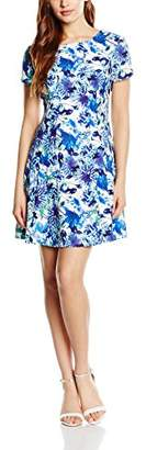 Wolfwhistle Wolf and Whistle Women's Floral Skater Short Sleeve Dress