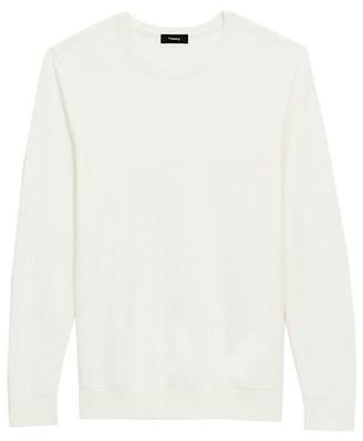 Theory Riland Pique Cotton Sweater