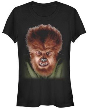Fifth Sun Universal Monsters Women's Wolfman Big Face Short Sleeve Tee Shirt
