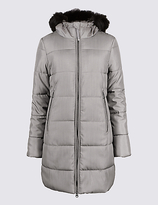 Per Una Metallic Waist Padded Coat with StormwearTM