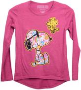 Peanuts Girls Snoopy and Woodstock Long-Sleeved Top