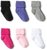 Circo Toddler Girls' Bobby Socks 6 pk Multicolored