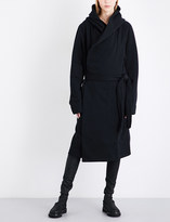 Drkshdw Fleece-lined cotton-jersey robe