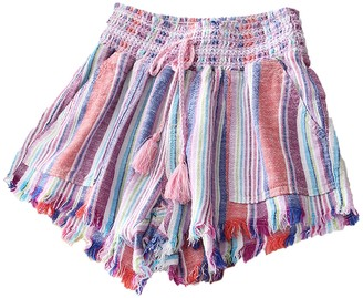 Goodnight Macaroon 'Katy' Fringe Hem Braided Waist Tie Shorts (4 Colors)