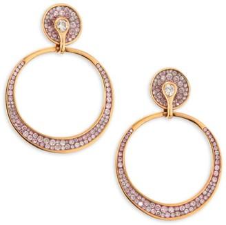 Plevé Opus Pink Diamond & 18K Rose Gold Hoop Earrings