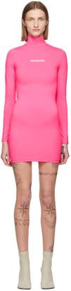 Vetements Pink Logo Dress