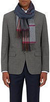 Colombo Women's Plaid Cashmere Flannel Scarf-GREY