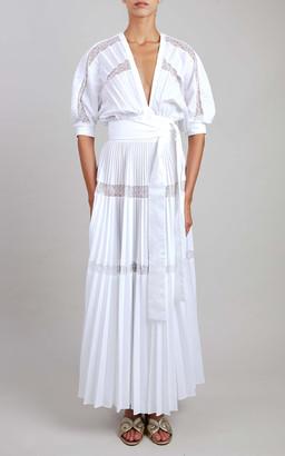 Elie Saab Cotton Midi Dress