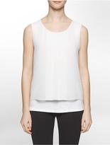 Calvin Klein Chiffon Overlay Sleeveless Top