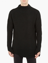 Thom Krom Black Oversized Wool Sweater