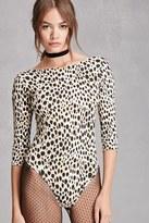 Forever 21 FOREVER 21+ Motel Leopard Print Bodysuit