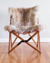 Texas Rover Company Dollie Natural Beige Brown Sheepskin Chair
