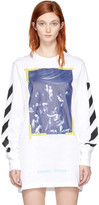 Off-White White Long Sleeve Diagonal Caravaggio T-shirt