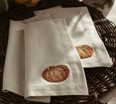 Pottery Barn Pumpkin Embroidered Napkin, Set of 4